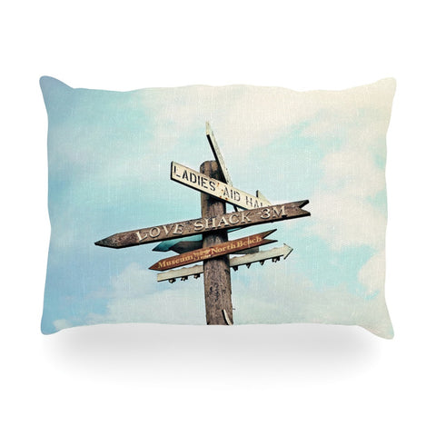 "Sylvia Cook ""Love Shack"" Oblong Pillow - KESS InHouse"