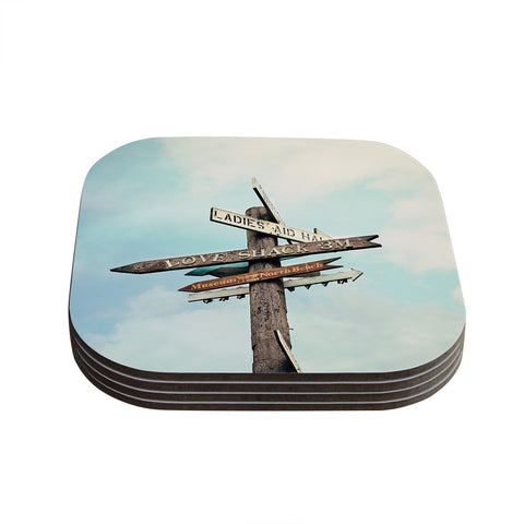 "Sylvia Cook ""Love Shack"" Coasters (Set of 4)"