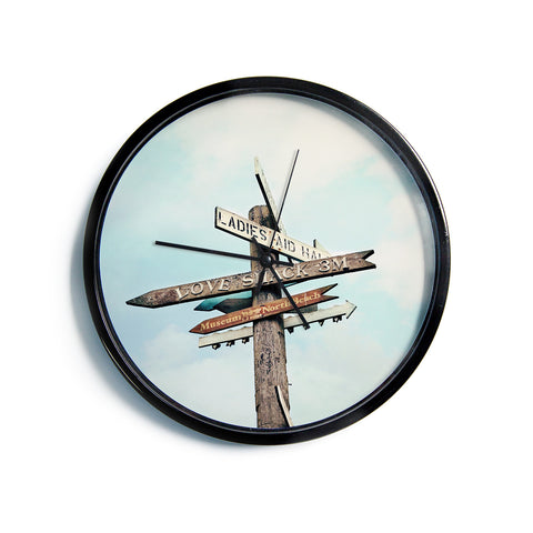 "Sylvia Cook ""Love Shack""  Modern Wall Clock"
