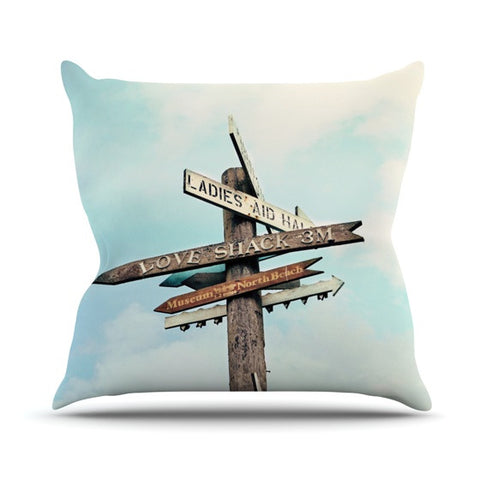 "Sylvia Cook ""Love Shack"" Throw Pillow - KESS InHouse  - 1"