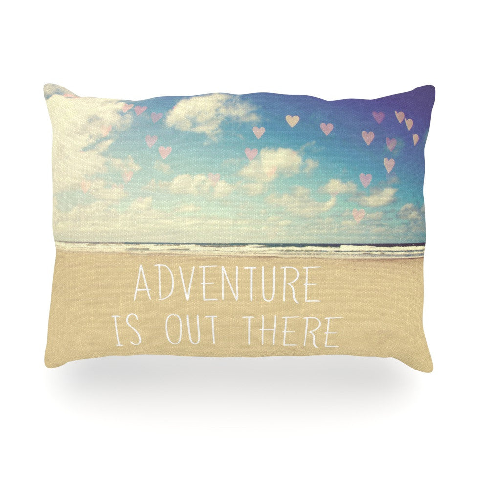 "Sylvia Cook ""Adventure is Out There"" Oblong Pillow - KESS InHouse"