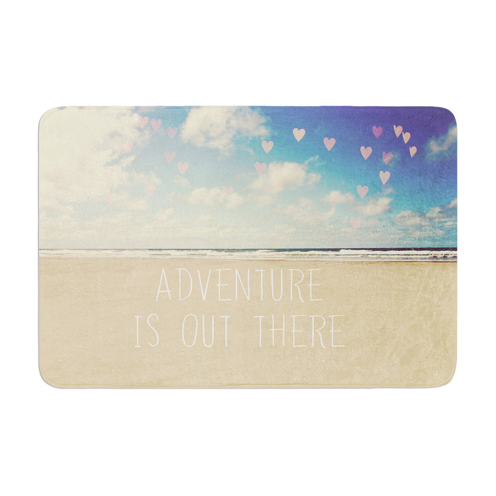 "Sylvia Cook ""Adventure is Out There"" Memory Foam Bath Mat - KESS InHouse"