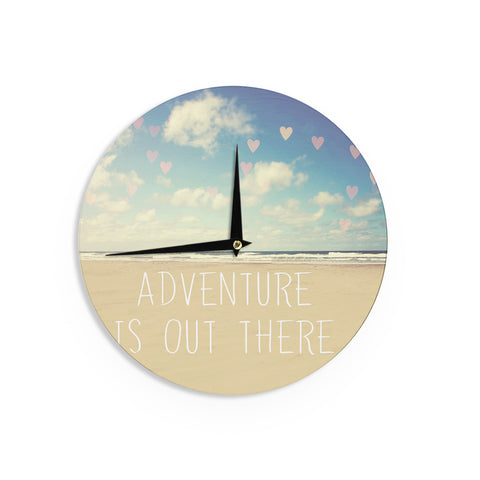 "Sylvia Cook ""Adventure is Out There"" Wall Clock - KESS InHouse"