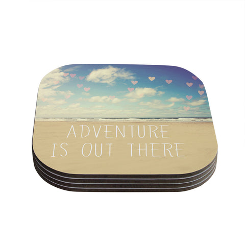 "Sylvia Cook ""Adventure is Out There"" Coasters (Set of 4)"