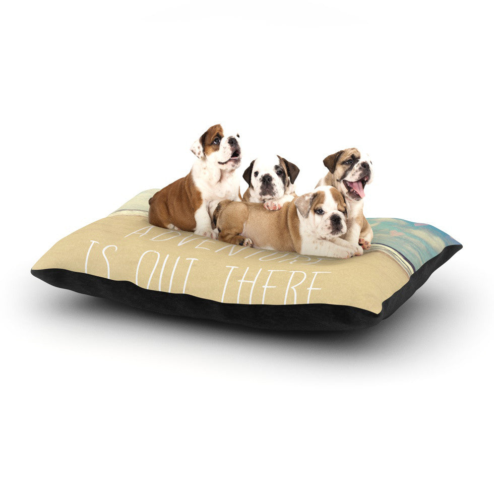 "Sylvia Cook ""Adventure is Out There"" Dog Bed - KESS InHouse  - 1"