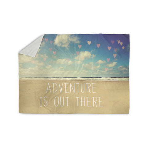 "Sylvia Cook ""Adventure is Out There"" Sherpa Blanket - KESS InHouse  - 1"