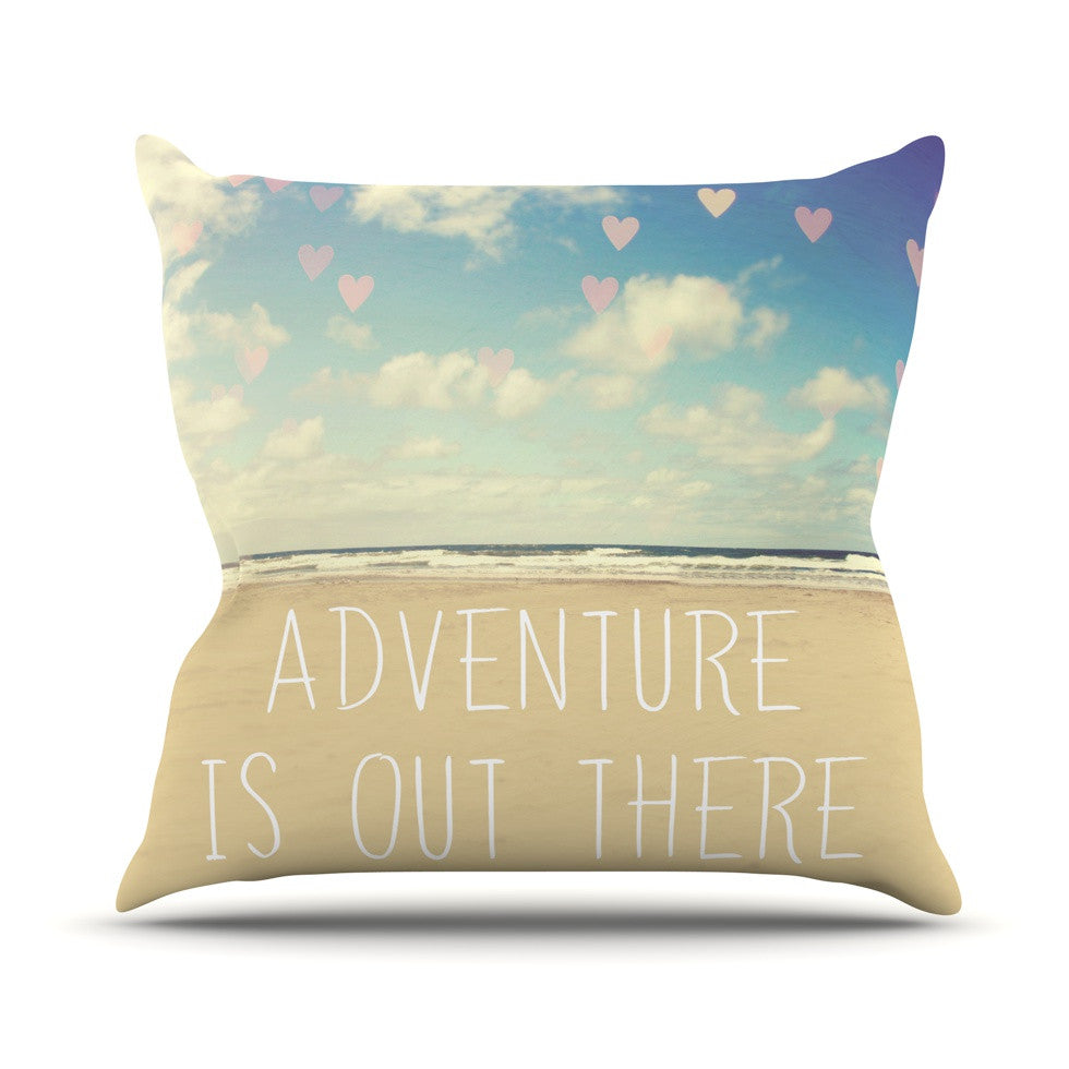 "Sylvia Cook ""Adventure is Out There"" Throw Pillow - KESS InHouse  - 1"