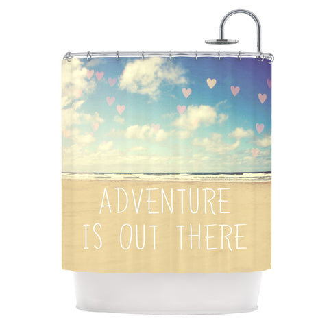 "Sylvia Cook ""Adventure is Out There"" Shower Curtain - KESS InHouse"