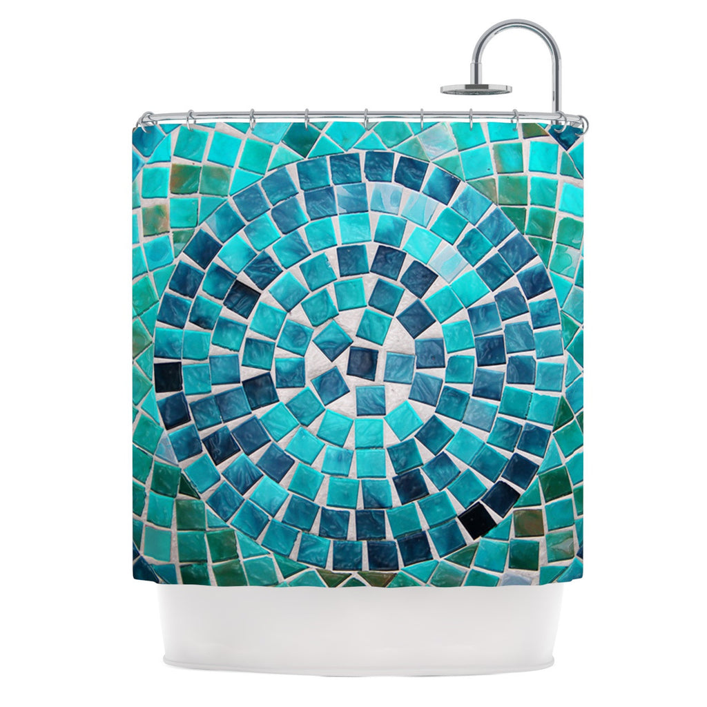 "Sylvia Cook ""Circular"" Shower Curtain - KESS InHouse"