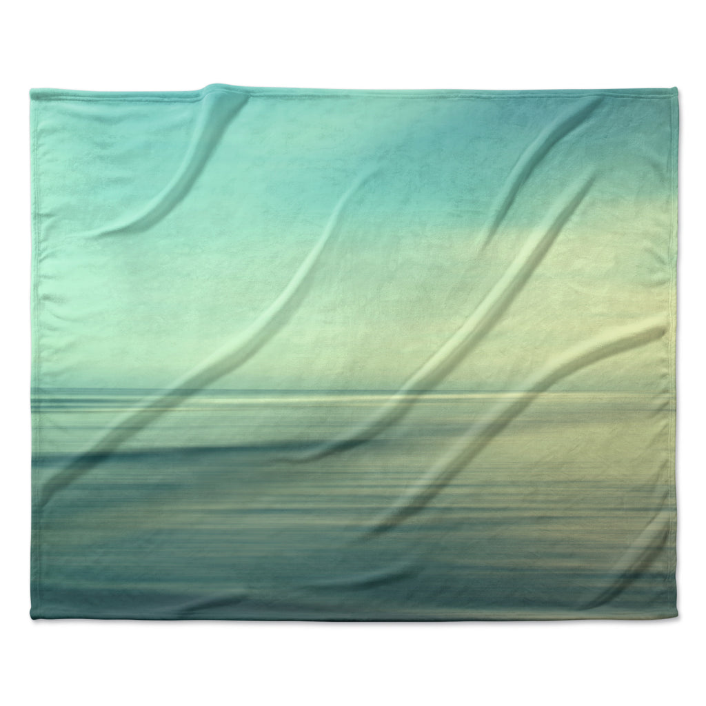 "Sylvia Cook ""Beach"" Fleece Throw Blanket"