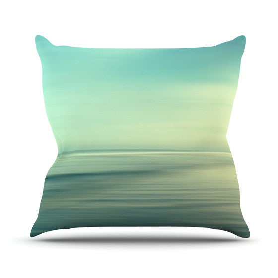 "Sylvia Cook ""Beach"" Outdoor Throw Pillow - KESS InHouse  - 1"