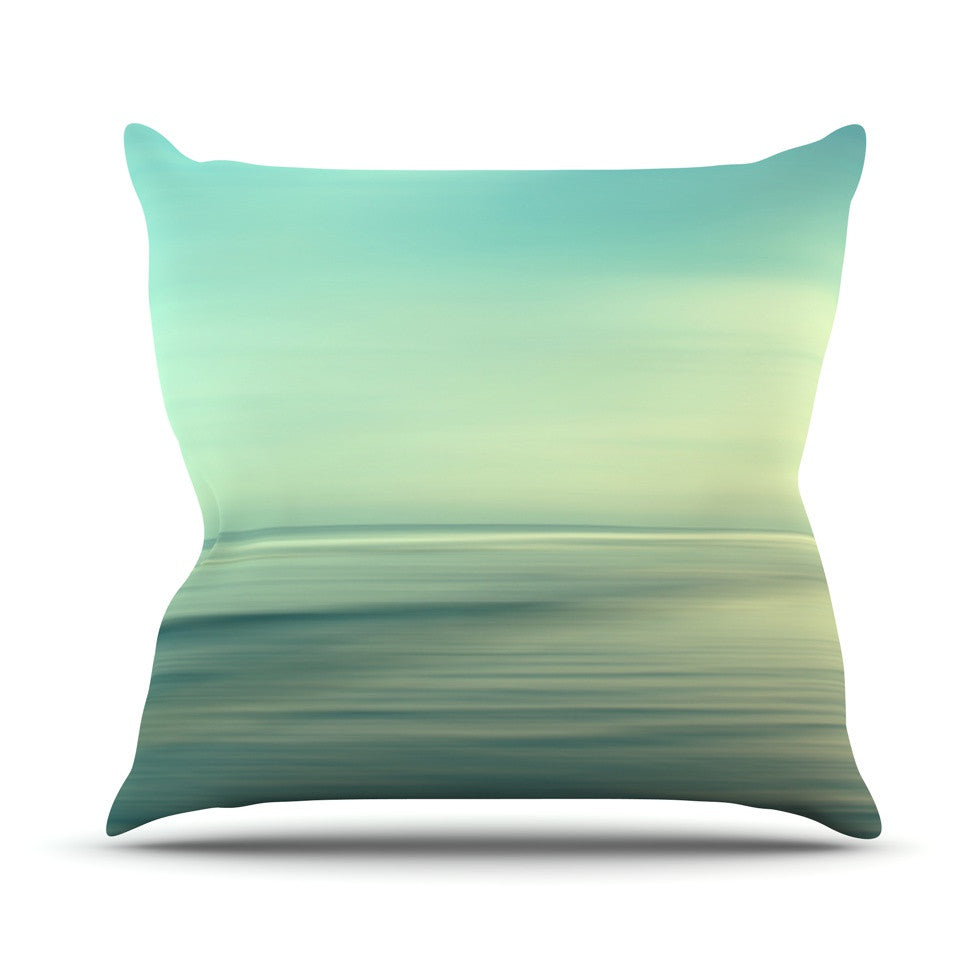 "Sylvia Cook ""Beach"" Throw Pillow - KESS InHouse  - 1"