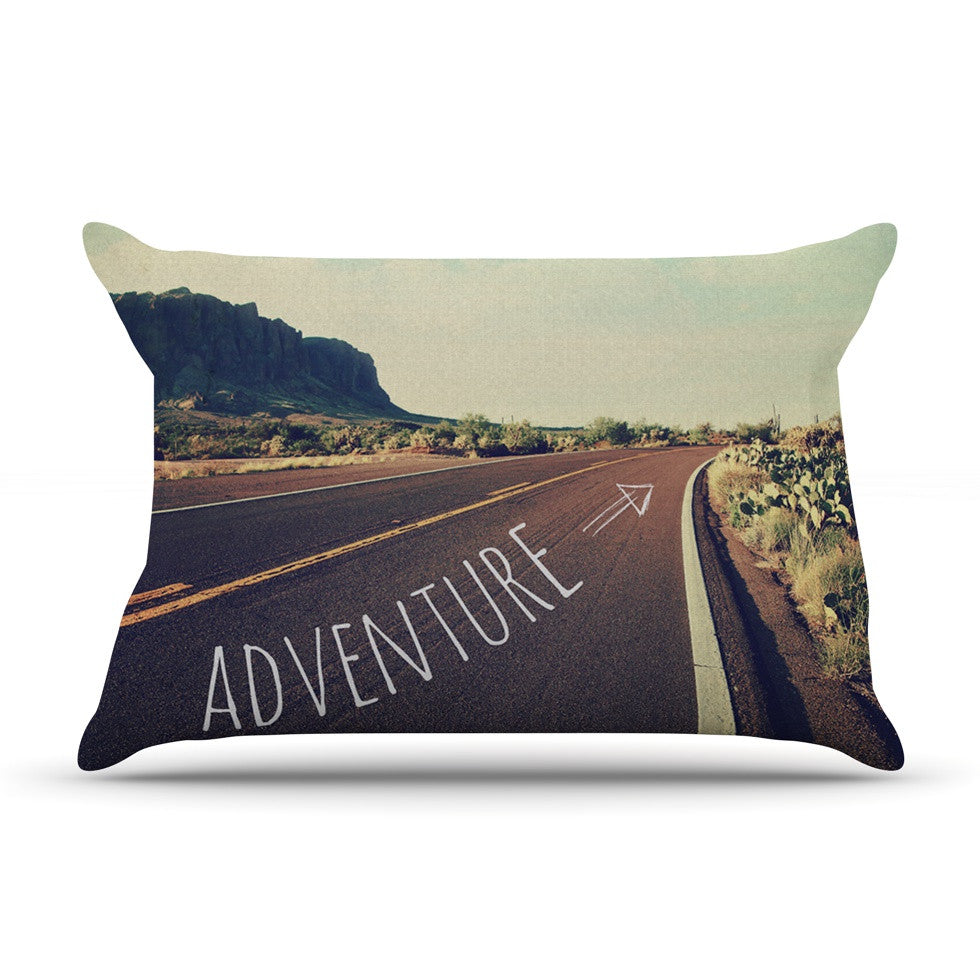 "Sylvia Cook ""Adventure"" Desert Road Pillow Sham - KESS InHouse"