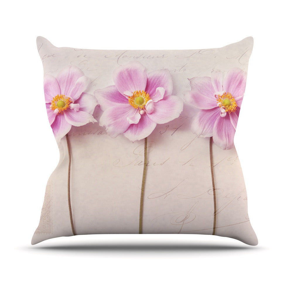 "Sylvia Cook ""Anemone Trio"" Outdoor Throw Pillow - KESS InHouse  - 1"