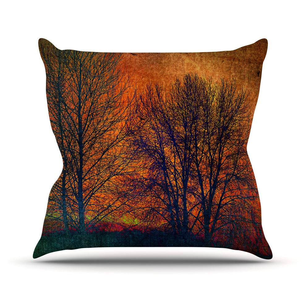 "Sylvia Cook ""Silhouettes"" Outdoor Throw Pillow - KESS InHouse  - 1"