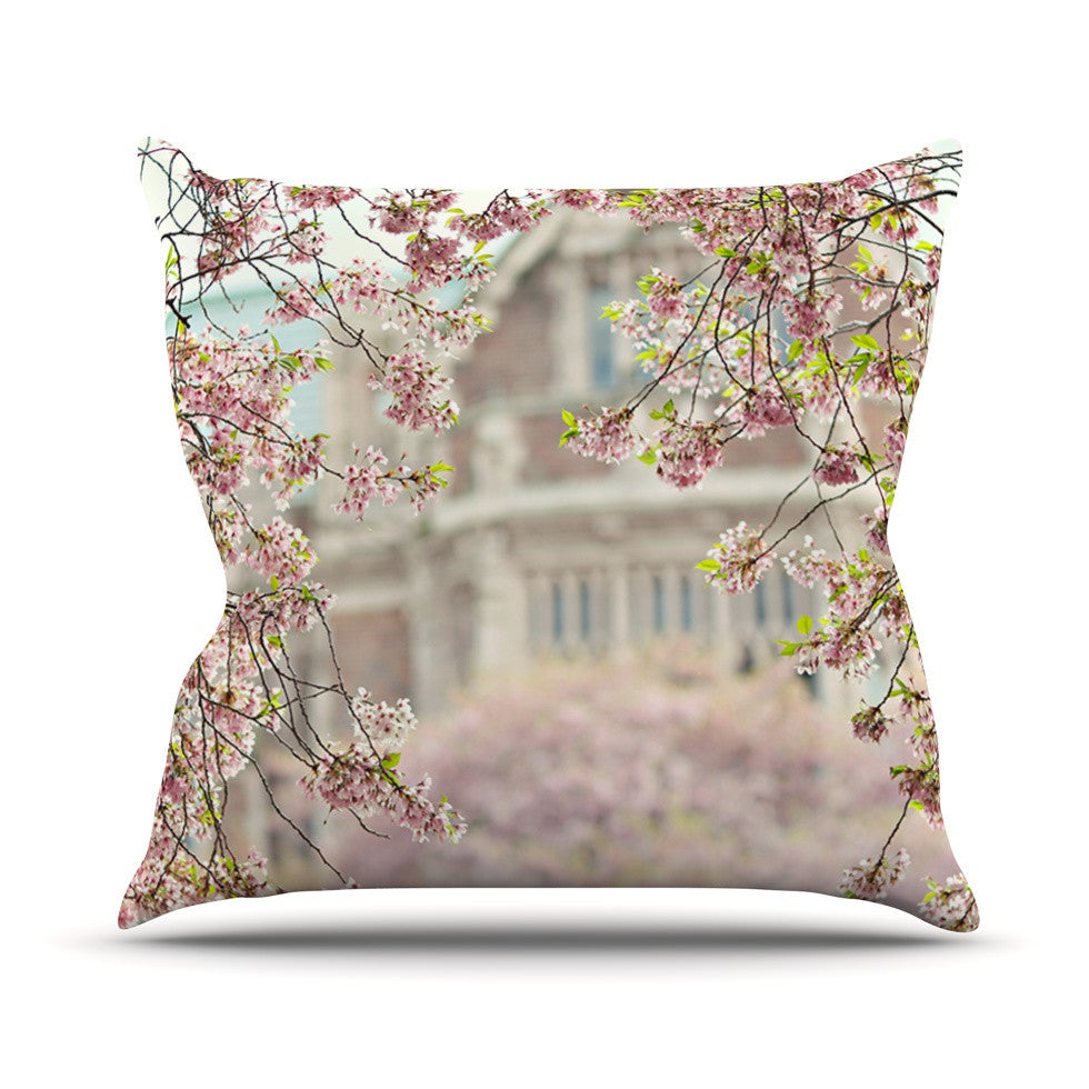 "Sylvia Cook ""Pink Dream"" Outdoor Throw Pillow - KESS InHouse  - 1"