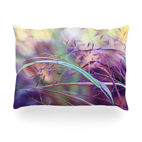 "Sylvia Cook ""Pretty Grasses"" Oblong Pillow - KESS InHouse"