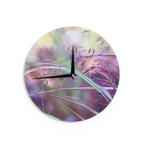 "Sylvia Cook ""Pretty Grasses"" Wall Clock - KESS InHouse"