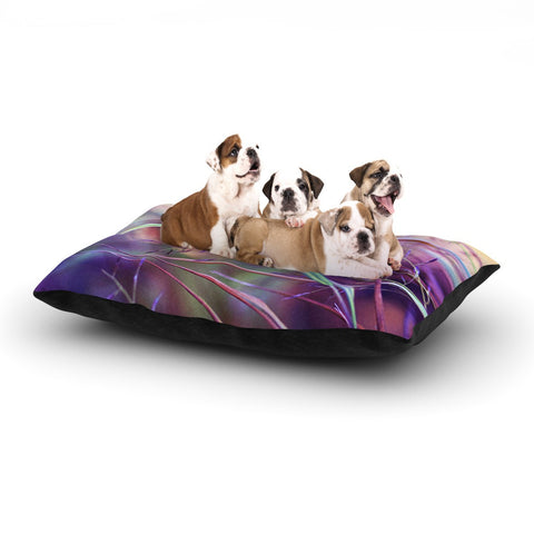 "Sylvia Cook ""Pretty Grasses"" Dog Bed - KESS InHouse  - 1"