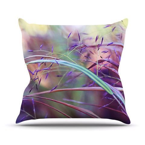 "Sylvia Cook ""Pretty Grasses"" Throw Pillow - KESS InHouse  - 1"