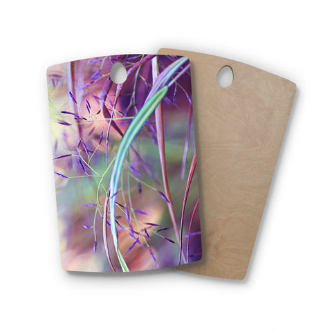 "Sylvia Cook ""Pretty Grasses"" Rectangle Wooden Cutting Board"