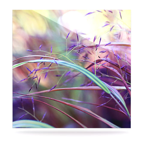 "Sylvia Cook ""Pretty Grasses"" Luxe Square Panel - KESS InHouse  - 1"