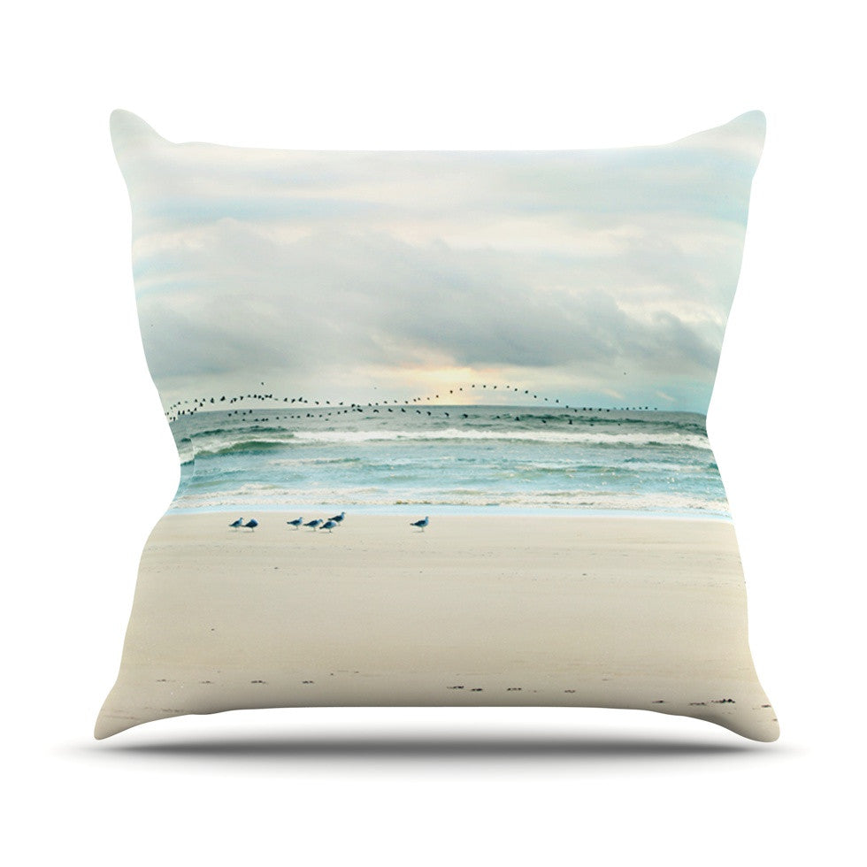 "Sylvia Cook ""Flight"" Throw Pillow - KESS InHouse  - 1"