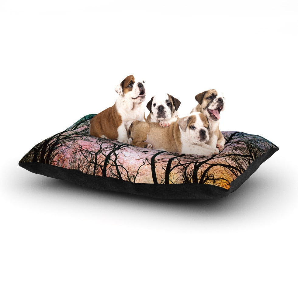 "Sylvia Cook ""The Birds"" Dog Bed - KESS InHouse  - 1"