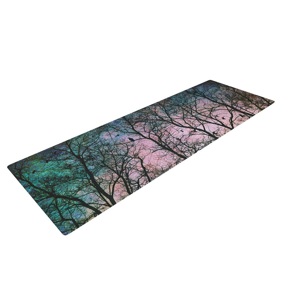 "Sylvia Cook ""The Birds"" Yoga Mat - KESS InHouse  - 1"