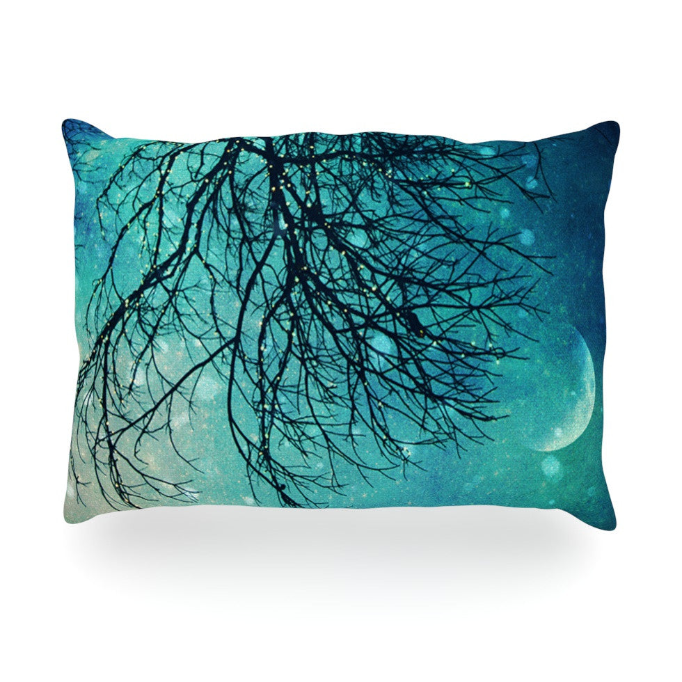 "Sylvia Cook ""Winter Moon"" Oblong Pillow - KESS InHouse"