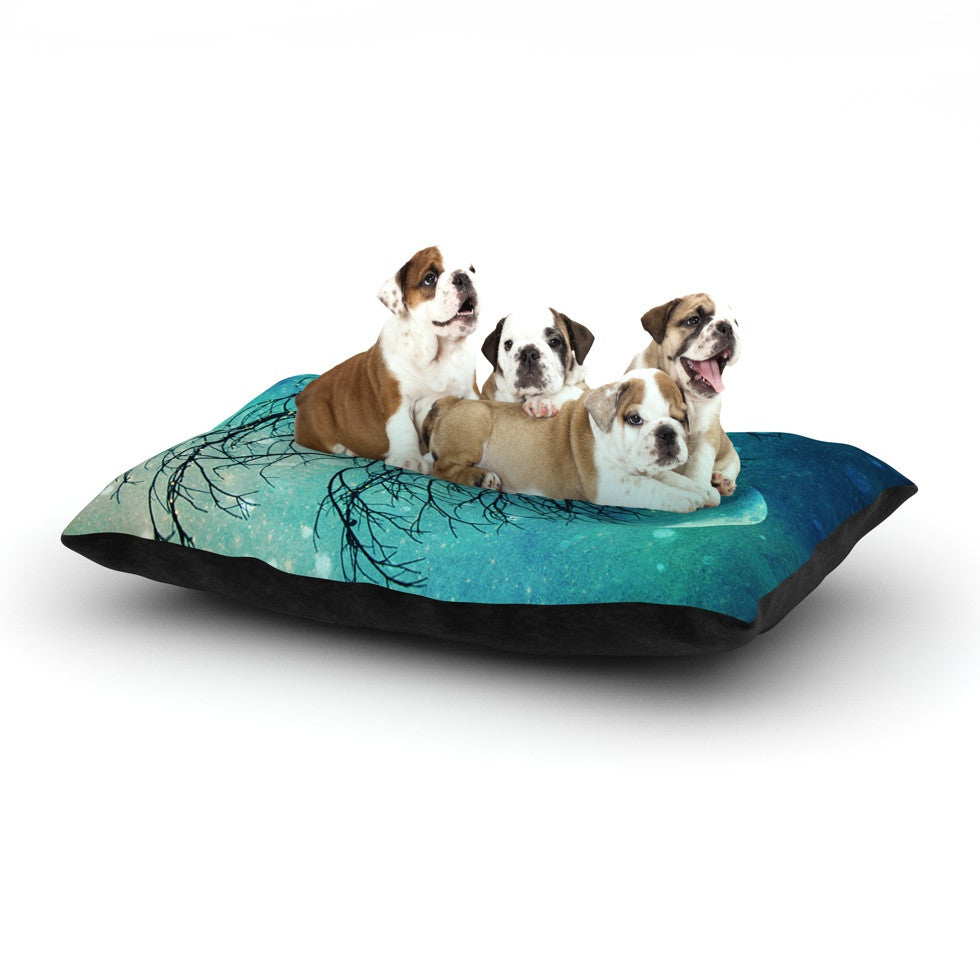 "Sylvia Cook ""Winter Moon"" Dog Bed - KESS InHouse  - 1"