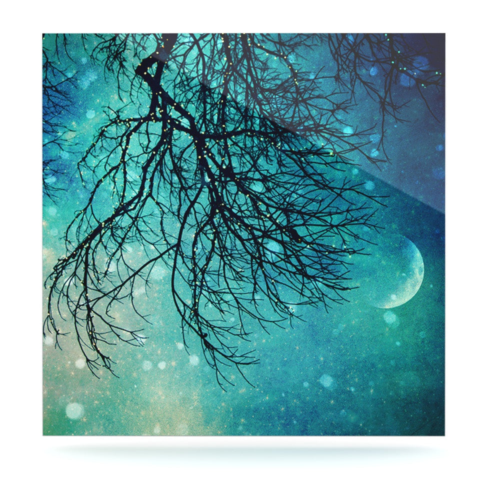 "Sylvia Cook ""Winter Moon"" Luxe Square Panel - KESS InHouse  - 1"