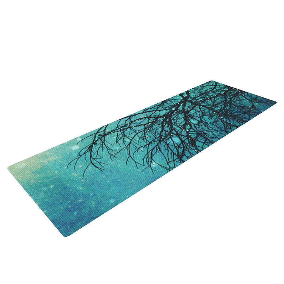 "Sylvia Cook ""Winter Moon"" Yoga Mat - KESS InHouse  - 1"