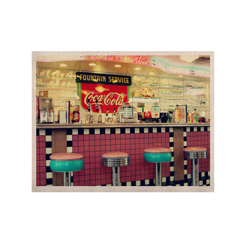 "Sylvia Cook ""Retro Diner"" Coca Cola KESS Naturals Canvas (Frame not Included) - KESS InHouse  - 1"