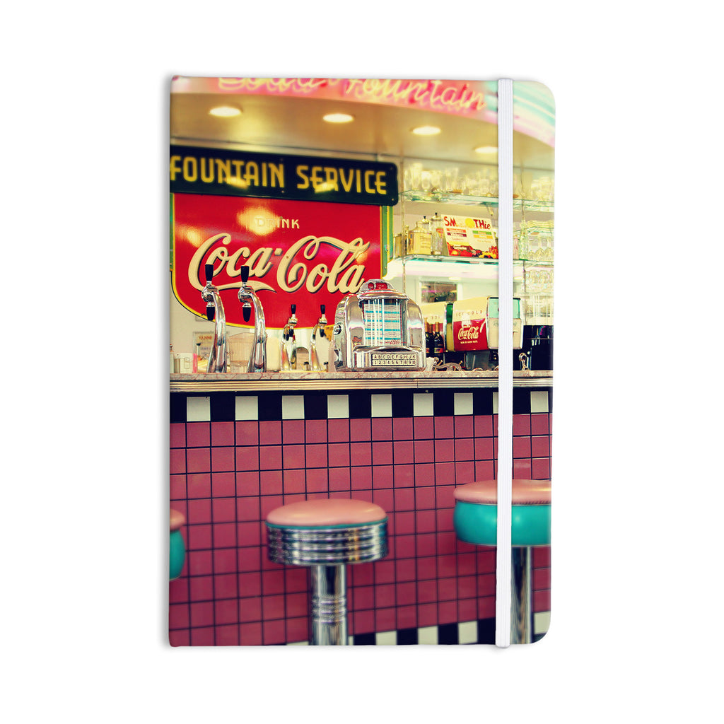 "Sylvia Cook ""Retro Diner"" Coca Cola Everything Notebook - KESS InHouse  - 1"