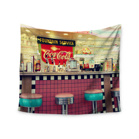 "Sylvia Cook ""Retro Diner"" Coca Cola Wall Tapestry - KESS InHouse  - 1"