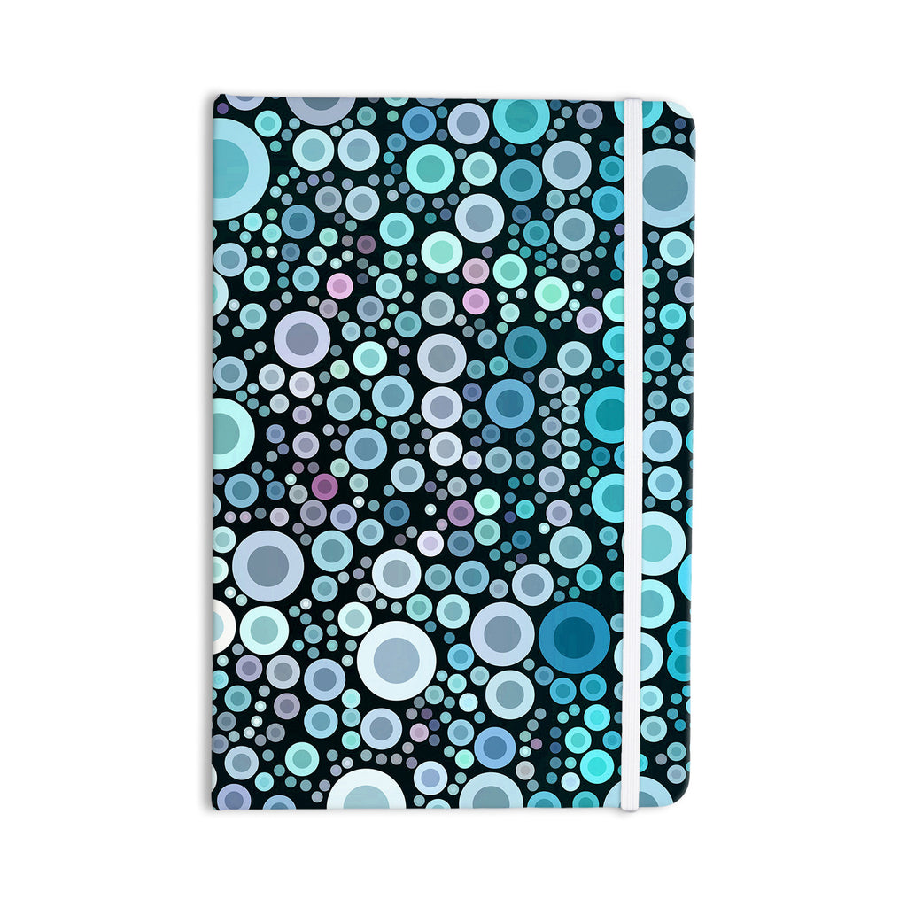 "Sylvia Cook ""Aquatic"" Blue Circles Everything Notebook - KESS InHouse  - 1"