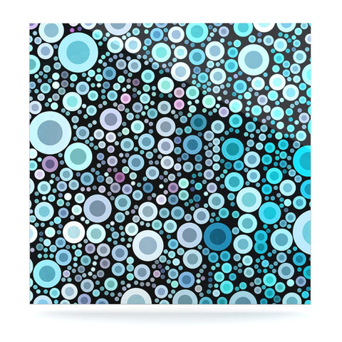 "Sylvia Cook ""Aquatic"" Blue Circles Luxe Square Panel - KESS InHouse  - 1"