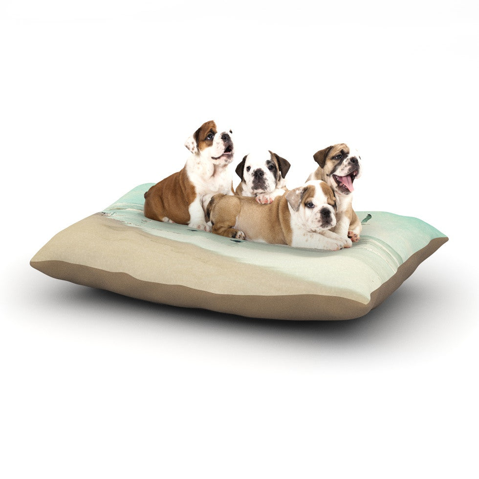 "Sylvia Cook ""Away We Go"" Beach Seagull Dog Bed - KESS InHouse  - 1"