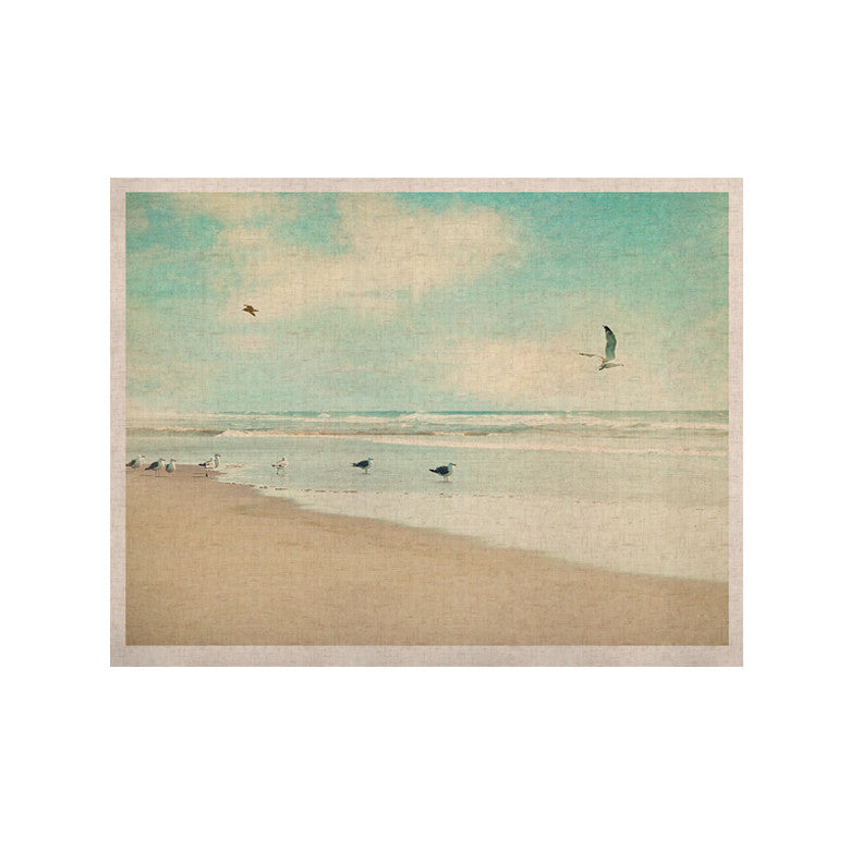 "Sylvia Cook ""Away We Go"" Beach Seagull KESS Naturals Canvas (Frame not Included) - KESS InHouse  - 1"
