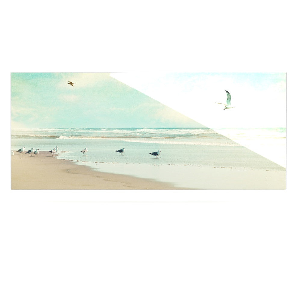 "Sylvia Cook ""Away We Go"" Beach Seagull Luxe Rectangle Panel - KESS InHouse  - 1"