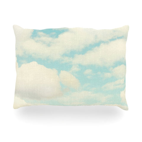 "Sylvia Cook ""Clouds"" Blue White Oblong Pillow - KESS InHouse"