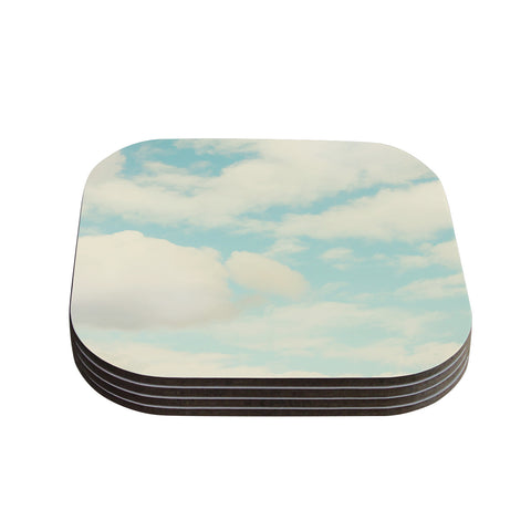 "Sylvia Cook ""Clouds"" Blue White Coasters (Set of 4)"