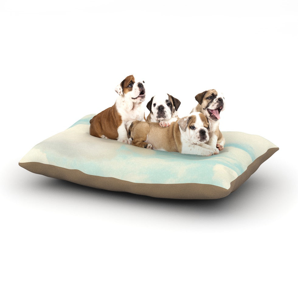 "Sylvia Cook ""Clouds"" Blue White Dog Bed - KESS InHouse  - 1"