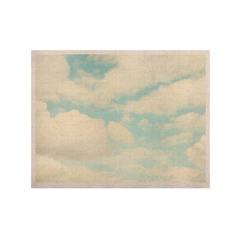 "Sylvia Cook ""Clouds"" Blue White KESS Naturals Canvas (Frame not Included) - KESS InHouse  - 1"