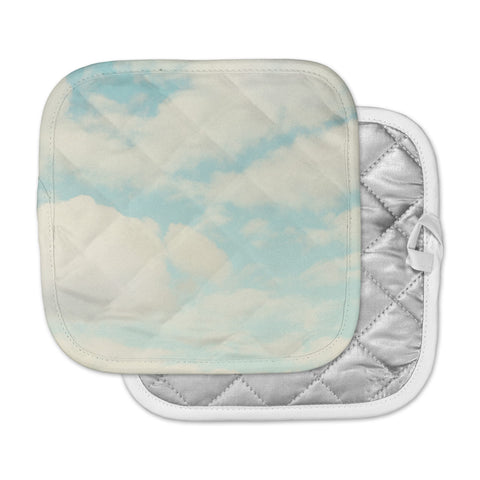 "Sylvia Cook ""Clouds"" Blue White Pot Holder"