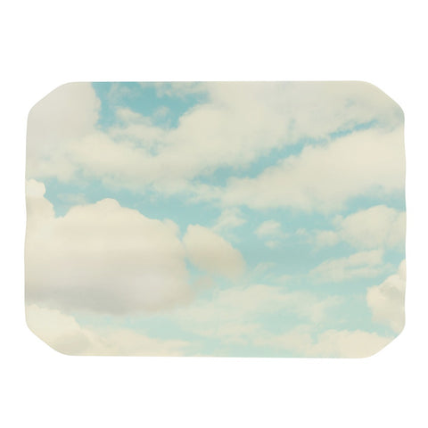 "Sylvia Cook ""Clouds"" Blue White Place Mat - KESS InHouse"