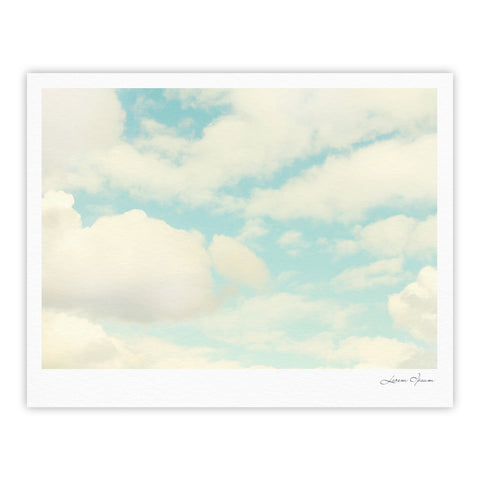 "Sylvia Cook ""Clouds"" Blue White Fine Art Gallery Print - KESS InHouse"