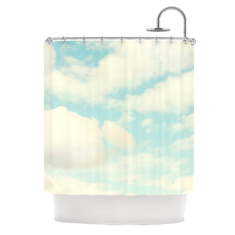 "Sylvia Cook ""Clouds"" Blue White Shower Curtain - KESS InHouse"