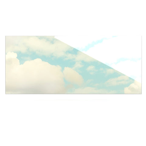 "Sylvia Cook ""Clouds"" Blue White Luxe Rectangle Panel - KESS InHouse  - 1"
